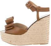 Valentino Espadrille Wedge Sandals