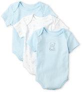 Little Me Newborn/Infant Boys) 3-Pack Bodysuits