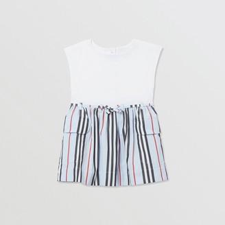 Burberry Icon Stripe Cotton Dress