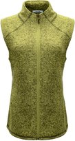 Escalier Women`s Stand Collar Fur Lined Knitted Brushed Vest With Pockets
