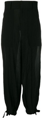 Loewe wide high-rise crepe trousers