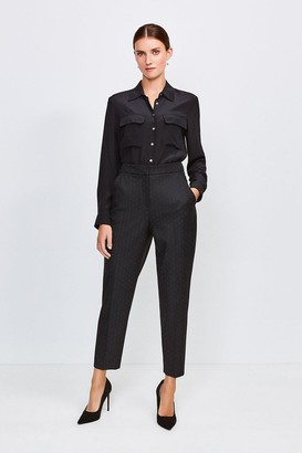 Karen Millen Pinspot High Waist Trousers