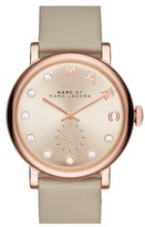 Marc Jacobs Women's 'Baker' Crystal Index Leather Strap Watch, 36Mm