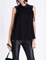 Chloé Ruched silk-crepe shirt