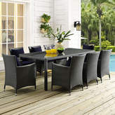 Modway Sojourn 9 Piece Dining Set