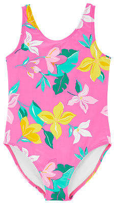Carter's Baby Girls Floral One Piece Swimsuit, 4 , Pink