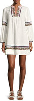 Jets Sensory Embroidered Tunic Dress, White