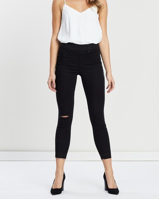 Spanx Women's Black High-Waisted - Distressd Skinny Jeans - Size One Size, S at The Iconic