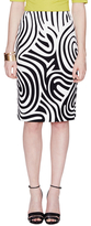 Lafayette 148 New York Modern Cotton Swirl Slim Skirt