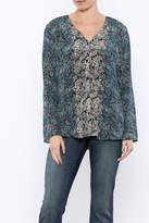 Tolani Print Silk Blouse
