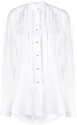 Ermanno Scervino Embellished Stripes Shirt
