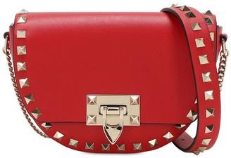 Valentino Rockstud Grained Leather Shoulder Bag