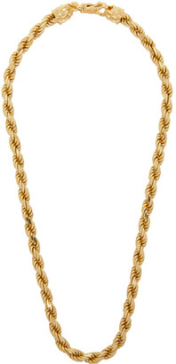 Emanuele Bicocchi Gold Rope Chain Necklace
