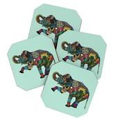 DENY Designs Asian Elephant Coasters - Set of 4