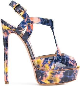 Casadei Embossed Platform Sandals
