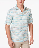 Tasso Elba Men's Linen Optic Wave Shirt, Only at Macy's