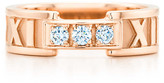 Tiffany & Co. Atlas ring in 18k rose gold with diamonds