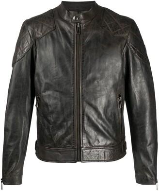 Belstaff Distressed Leather Jacket