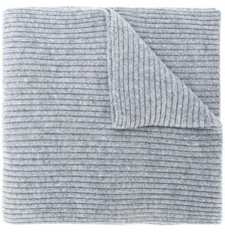 N.Peal Ribbed Knit Scarf
