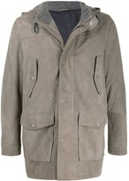 Eleventy hooded parka coat