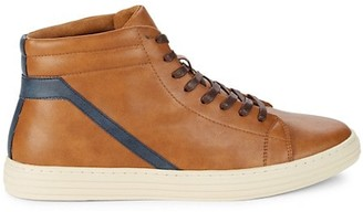 Steve Madden Halbert Faux Leather High-Top Sneakers
