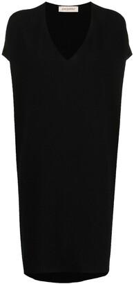Gentry Portofino V-neck shift midi dress