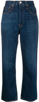 Rag & Bone Maya high-rise cropped jeans