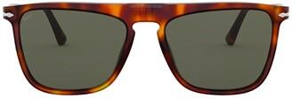 Persol Tortoise Shell Rectangle Frame Sunglasses
