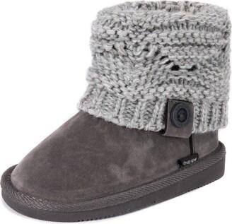 Muk Luks girls Muk LuksA Girl's Patti Boots- Grey Fashion Boot