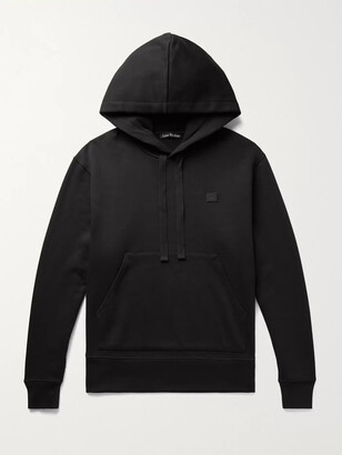 Acne Studios Ferris Logo-Appliqued Fleece-Back Cotton-Jersey Hoodie