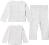 Petit Bateau White Striped 3-Piece Outfit