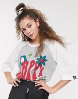 Love Moschino Happy Hippy Baseball 3/4 Sleeve T-Shirt