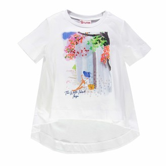 Brums Girl's T-Shirt Jersey C/Stampa Fotografica Kniited Tank Top