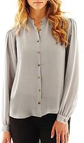 JCPenney Worthington Pleated-Shoulder Blouse
