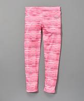 Reebok Azalea Pink Marled Leggings
