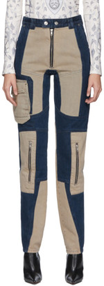 BEIGE GmbH Navy and Patchwork Antje Jeans