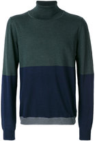 Wood Wood roll neck panel sweater