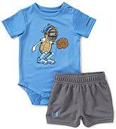 Under Armour Baby Boys Newborn-12 Months Peanut Catcher Short-Sleeve Bodysuit & Shorts Set