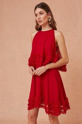 Keepsake MOONLIGHT MINI DRESS scarlet