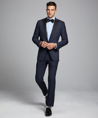 Todd Snyder Black Label Sutton Peak Lapel Tuxedo Jacket in Italian Navy Wool