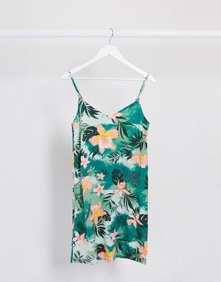 Vila mini cami dress in tropical print