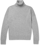 Ami Wool And Cashmere-blend Rollneck Sweater - Gray