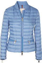 Moncler Ribbed Knit-trimmed Quilted Shell Jacket - Blue