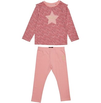 Juicy Couture Junior Girls Juicy Leopard Star T-Shirt & Leggings Set Rose Quartz