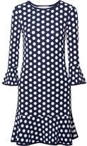 MICHAEL Michael Kors Polka-dot Stretch-jersey Mini Dress - Navy