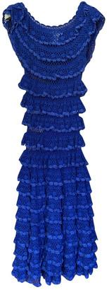 Oscar de la Renta Blue Lace Dresses
