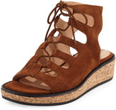 Bettye Muller Midas Lace-Up Wedge Sandal, Scotch