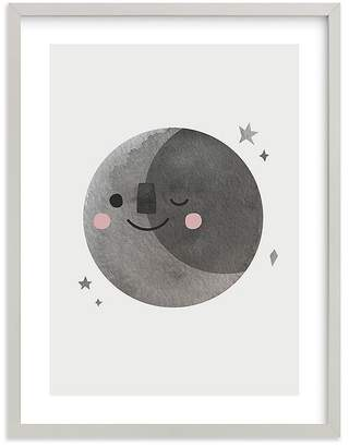 Pottery Barn Kids A Happy Moon Wall Art by Minted®, 11x14, Black