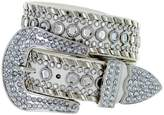 Belts Western Cowgirl Bling Belt with Rhinestone Buckle Set and Studded Strap