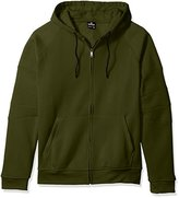 Southpole Men's Big and Tall Hooded Full Zip Fleece with Moto Biker Details on Shoulders